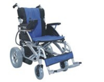 Imagen de Silla De Ruedas Electrica De Aluminio Plegable, Descansabrazos Abatibles Descansapies Desmontables