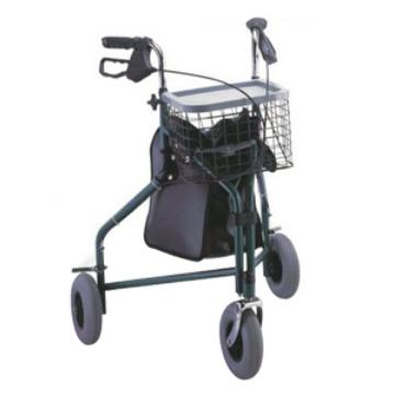 Imagen de Andadera Rider De Aluminio Plegable. 3 Ruedas .Frenos En Manubrios.Verde
