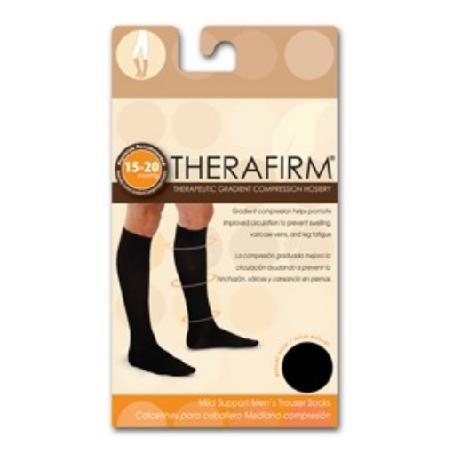 Calcetin Therafirm Mediana Compresion (15-20 Mmhg) Caballero Talla Mediana Color Negro