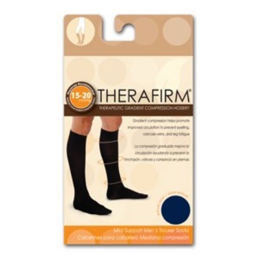 Calcetin Therafirm Mediana Compresion (15-20 Mmhg) Caballero Talla Mediana Color Marino
