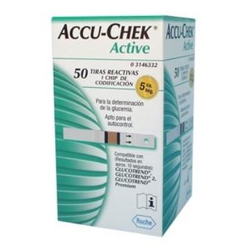 Imagen de Tiras Reactivas Accu Chek Active Para Glucometro Active C/50 Pi