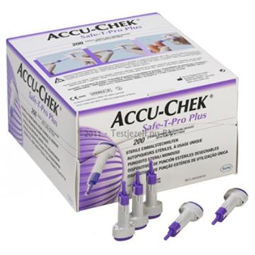 Imagen de Lancetas Accu-Chek Safe-T-Pro Plus Con 200 Piezas.