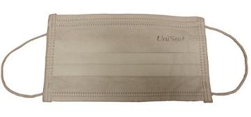 Imagen de Cubreboca y Nariz Unimask 3 capas termosellado con Adaptador Nasal Anatomico Blanco