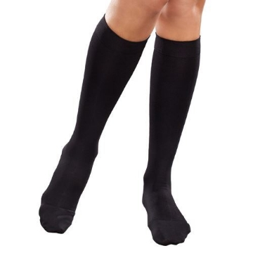 Imagen de Calcetin Therafirm Mediana Compresion (15-20 Mmhg) Dama Modelo Sheer Color Negro Talla Mediana