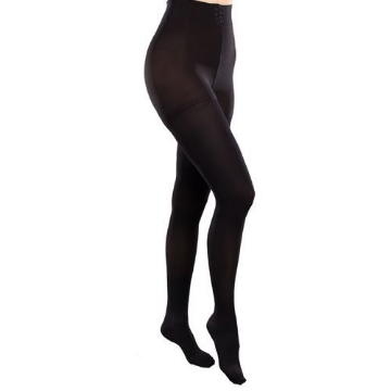 Imagen de Pantimedia Therafirm Mediana Compresion (15-20 Mmhg) Modelo Sheer Color Negro Talla Grande