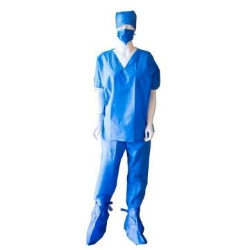 Imagen de Pijama para Cirugía Provemedic Desechable Cuello V (filipiina, pantalón, botas, cubre bocas y gorro)