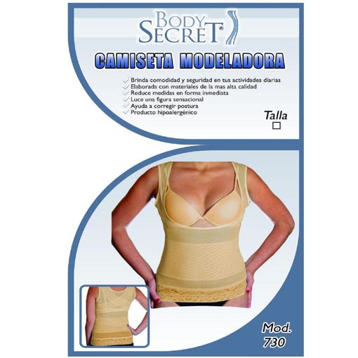 »Camiseta Moldeadora Beige Body Secret.