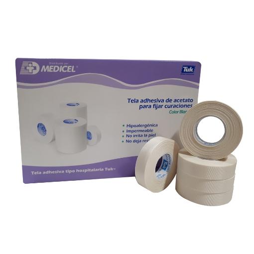 Tela Adhesiva De Acetato Tuk 1.25 Cm X 10 M