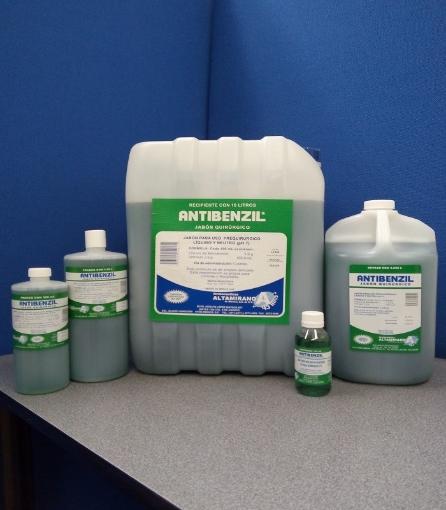 Cloruro de benzalconio al 1% (Antibenzil Jabon Quirurgico 120 Ml.)