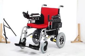 Imagen de Silla De Ruedas Electrica Hi-Fortune Aluminio Plegable, Descansabrazos Abatibles Y Descansapies