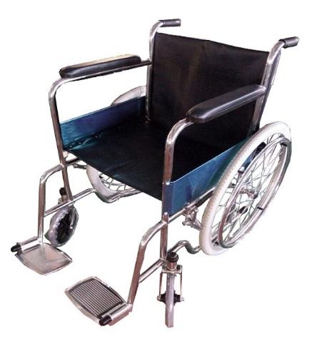 Silla de ruedas Rider de Acero Inoxidable con Descansa Brazos de Aluminio y ruedas neumaticas