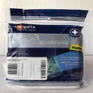 Imagen de Gasa Antimicrobiana esterilizada 10cmX10cm Tipo IV 8 capas 24X20 Bolsa 10 pzas