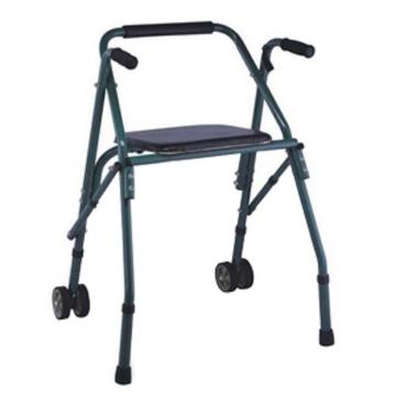 Imagen de Andadera Rider Plegable con Asiento, 2 Ruedas delanteras, soporte para espalda, Verde