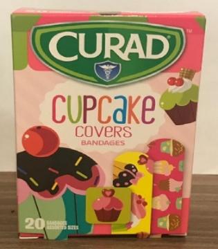 Imagen de Banditas adhesivas con figuras Cupcake