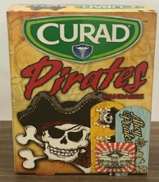 Imagen de Banditas adhesivas con figuras de Piratas