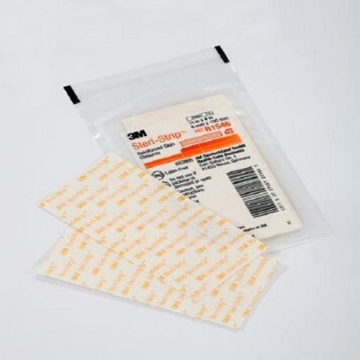 Tiras estériles para cierre de heridas Steri-Strip reforzado. Medida: 0.6 x 10.0cm