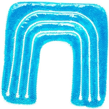 Imagen de Compresa de Perlas para Terapia Frio/Caliente Benesta Rexicare en forma de U para Hombros