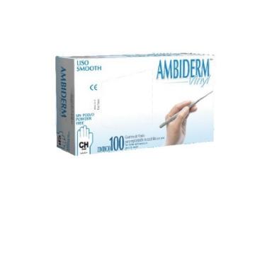 Imagen de Guante no Esteril Vinyl libre de polvo Ambiderm Chico con 100 piezas