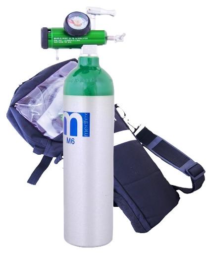 Tanque de Oxígeno Medfex 416 Litros con Maleta