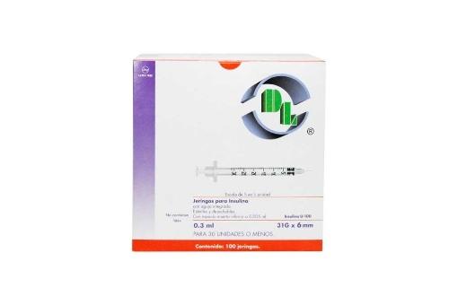 Jeringa de Insulina 0.3 ml 31x6 mm