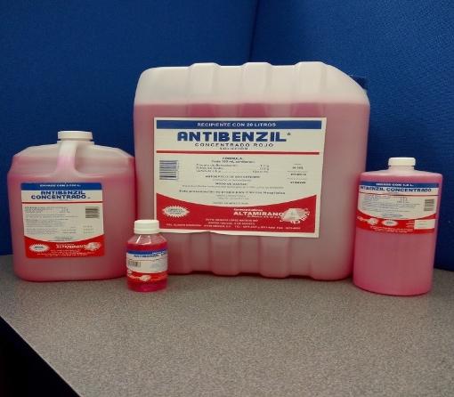 Cloruro de benzalconio al 1% (Antibenzil Concentrado Rojo NF 115 Ml.)