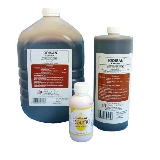 Iodopovidona Espuma Iodisan Diafra 120 ml.