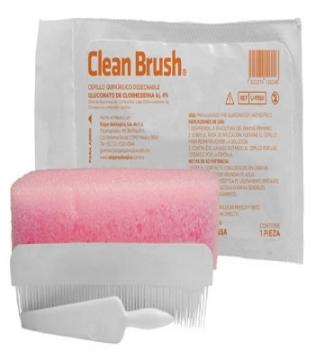 Imagen de Cepillo Quirurgico Clean Brush Desechable Gluconato de Clorhexidina 4%