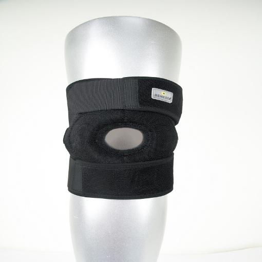 Rodillera Ajustable Benesta con Centraje de Rotula Alto Relieve de Neopreno Unitalla Negro