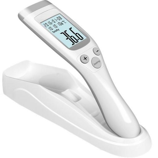 Termometro Infrarrojo Digital con Base Blanco