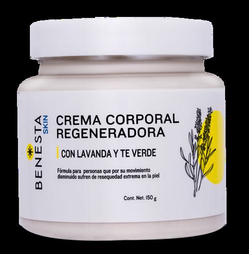 Crema Corporal Benesta Skin humectante regeneradora con Lavanda y Te verde Tarro 150 gr